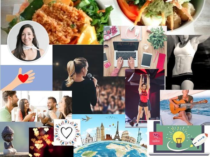 collage de imagenes de vida feliz